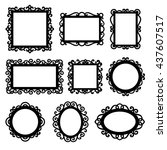 vector set of decorative... | Shutterstock .eps vector #437607517