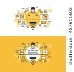 set of modern vector... | Shutterstock .eps vector #437611603