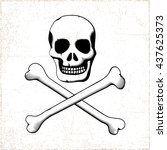 Pirate Style Smiling Scull Wit...