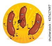 cartoon characters funny...   Shutterstock .eps vector #437627497