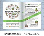 agricultural exhibition... | Shutterstock .eps vector #437628373