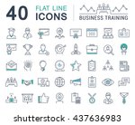 set vector line icons in flat... | Shutterstock .eps vector #437636983