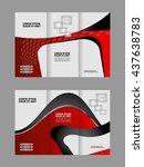 brochure design template... | Shutterstock .eps vector #437638783