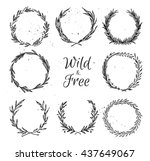 hand drawn vector illustration  ... | Shutterstock .eps vector #437649067