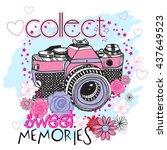 typography vector graphic print ... | Shutterstock .eps vector #437649523