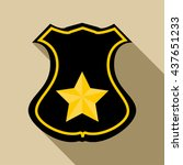 sheriff badge icon  flat style | Shutterstock .eps vector #437651233