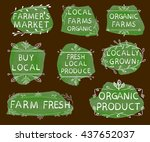 farmer's market  local farms... | Shutterstock .eps vector #437652037
