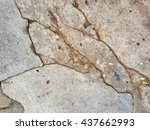 crack concrete texture... | Shutterstock . vector #437662993