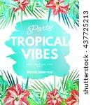 bright hawaiian design with... | Shutterstock .eps vector #437725213