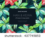 wedding invitaion or card... | Shutterstock .eps vector #437745853