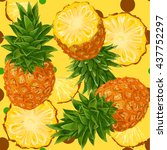 vector seamless pattern with... | Shutterstock .eps vector #437752297
