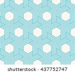 striped geometric background of ... | Shutterstock .eps vector #437752747