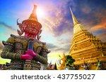 wat phra kaew  temple of the... | Shutterstock . vector #437755027