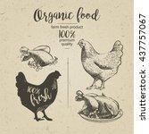 chicken. roasted chicken. ...   Shutterstock . vector #437757067