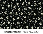 trendy seamless floral ditsy... | Shutterstock .eps vector #437767627