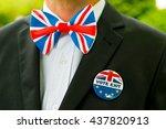 uk patriotism   vote exit   eu... | Shutterstock . vector #437820913