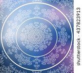 vintage mandala to heaven ... | Shutterstock .eps vector #437823913