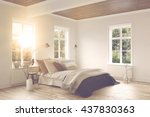 bright warm sunlight shining in ... | Shutterstock . vector #437830363