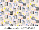 seamless colorful pattern... | Shutterstock .eps vector #437846647
