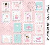 Birthday Postage Stamps Set Fo...