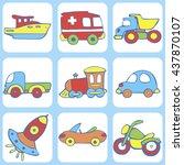 cute seamless baby pattern. set ...   Shutterstock .eps vector #437870107