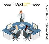 vector concept of taxi service  ... | Shutterstock .eps vector #437888977