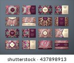vector vintage business cards... | Shutterstock .eps vector #437898913