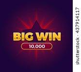 big win banner for online... | Shutterstock .eps vector #437914117