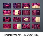 vector vintage business cards... | Shutterstock .eps vector #437954383