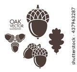 oak. acorn. leaf. logo. vector...   Shutterstock .eps vector #437963287
