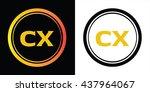 cx letters icon design template ... | Shutterstock .eps vector #437964067