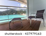 balcony view on the cruise ship | Shutterstock . vector #437979163