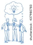 happy business team  men and... | Shutterstock .eps vector #437980783