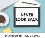 work on the tablet | Shutterstock .eps vector #437981983