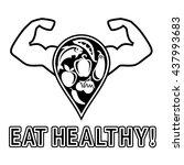 healthy eating. healthy... | Shutterstock .eps vector #437993683