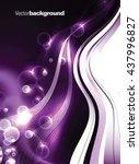 abstract shiny vector... | Shutterstock .eps vector #437996827