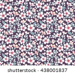 cute pattern in small flower.... | Shutterstock .eps vector #438001837