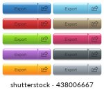 set of export glossy color...   Shutterstock .eps vector #438006667