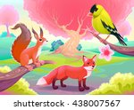 fantasy natural scenery with... | Shutterstock .eps vector #438007567