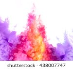 Closeup Of Colorful Ink In...