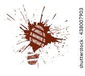 Grunge Footprint In A Splatter