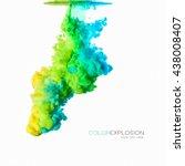 rainbow of colors. acrylic ink...   Shutterstock . vector #438008407
