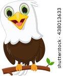 cute little eagle on a tree... | Shutterstock .eps vector #438013633