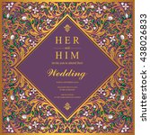 wedding card  invitation card ...   Shutterstock .eps vector #438026833