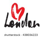 London Inscription With Heart...