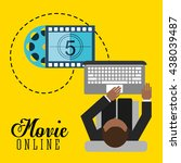 movie online design  | Shutterstock .eps vector #438039487