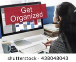 get organized management set up ... | Shutterstock . vector #438048043