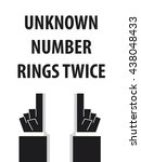 unknown number rings twice...   Shutterstock .eps vector #438048433