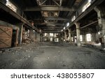 abandoned metallurgical factory ... | Shutterstock . vector #438055807