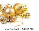 gold christmas balls   Shutterstock . vector #43805608